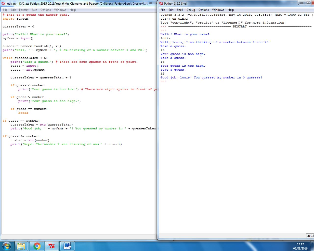 Year 6 Unit 6F Python (Script Based Language) | Computing at St